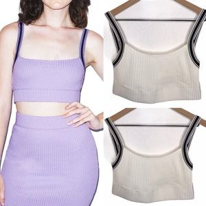 🍂 American Apparel Cropped Ribbed Knit Tank Top
